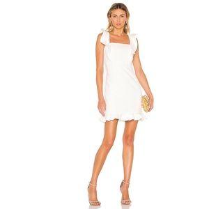 Bardot Ashley Frill Cocktail Dress with Peplum hem